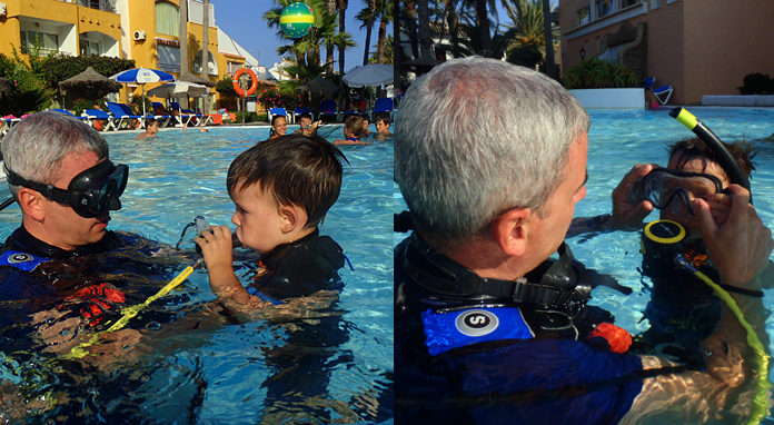 Playa Senator buceo en Almería con niños