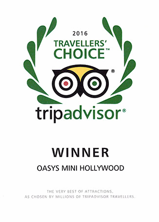 OASYS MiniHollywood Travellers Choice Awards