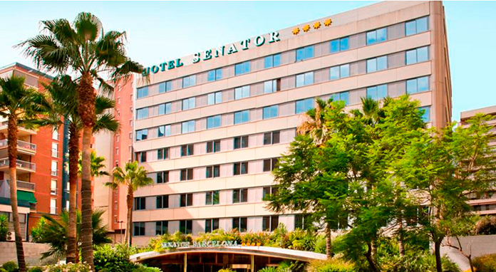 Fachada Hotel Senator Barcelona