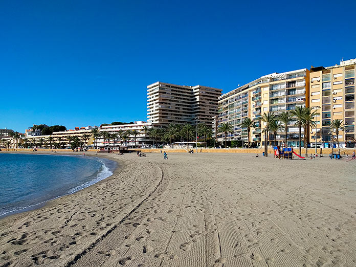 Playa de Aguadulce en Roquetas de Mar