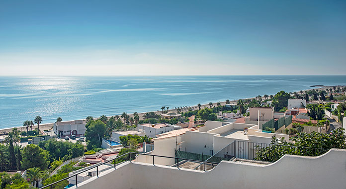 Vista general de la costa de Mojacar Almería