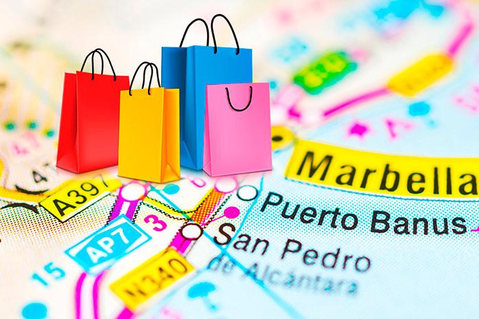 Mapa de Marbella con detalle de compras en Puerto Banús