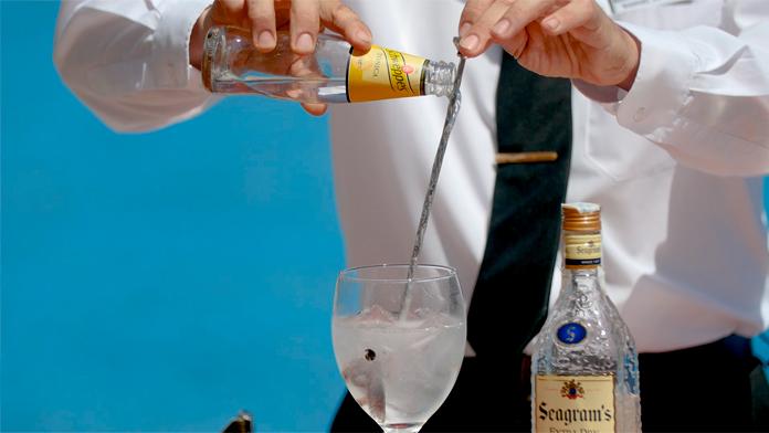 elaboración gin-tonic