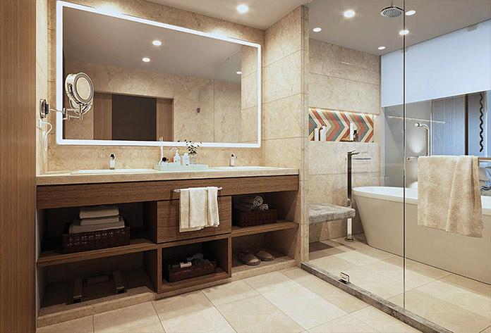 Infografía Baño habitación