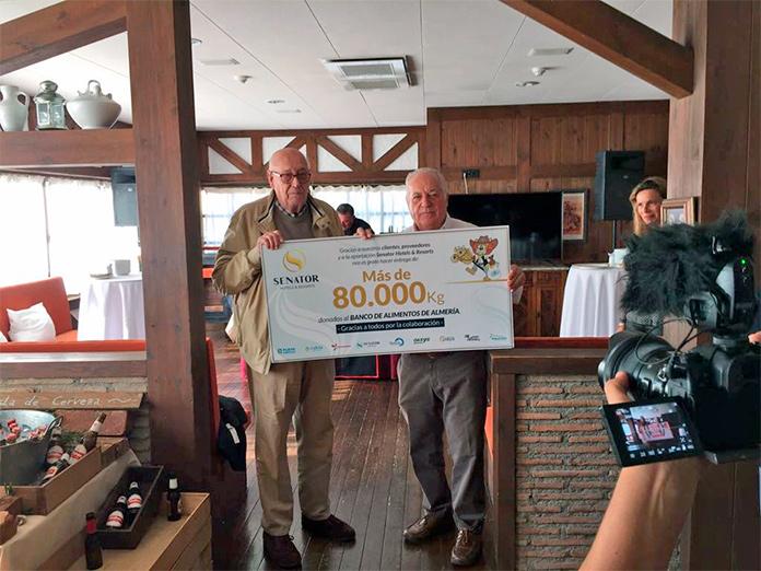 Senator Hotels & Resorts dona 80.000 kilos de alimentos al Banco de Alimentos de Almería