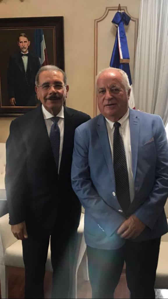 President of the Dominican Republic, Mr. Danilo Medina With Mr. José María Rossell, President of SHR