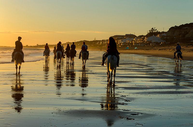 Paseo a caballo en Huelva