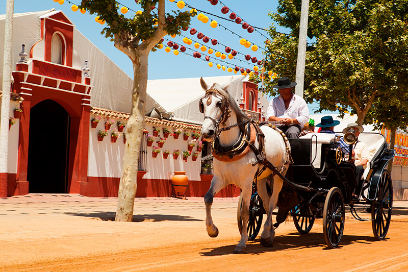 Caballos en la Feria de Sevilla