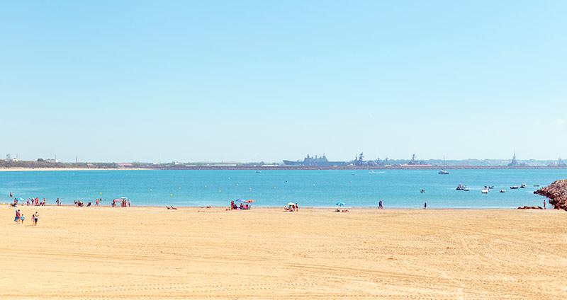 Playa nudista en Rota