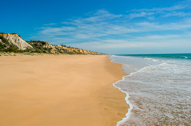 Playa nudista de Huelva
