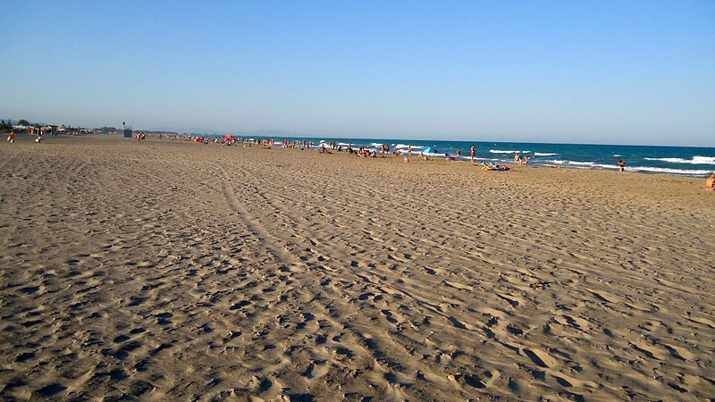 Almardá beach, in Sagunto